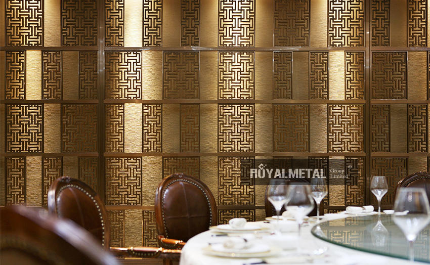 Red bronze push-pull screen/upright partition/folding partition