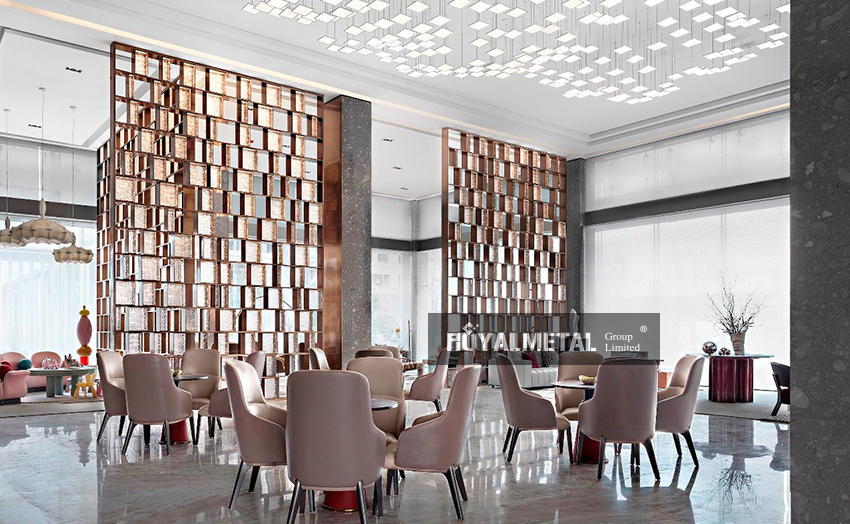 Stainless steel etched partition/Carving divider