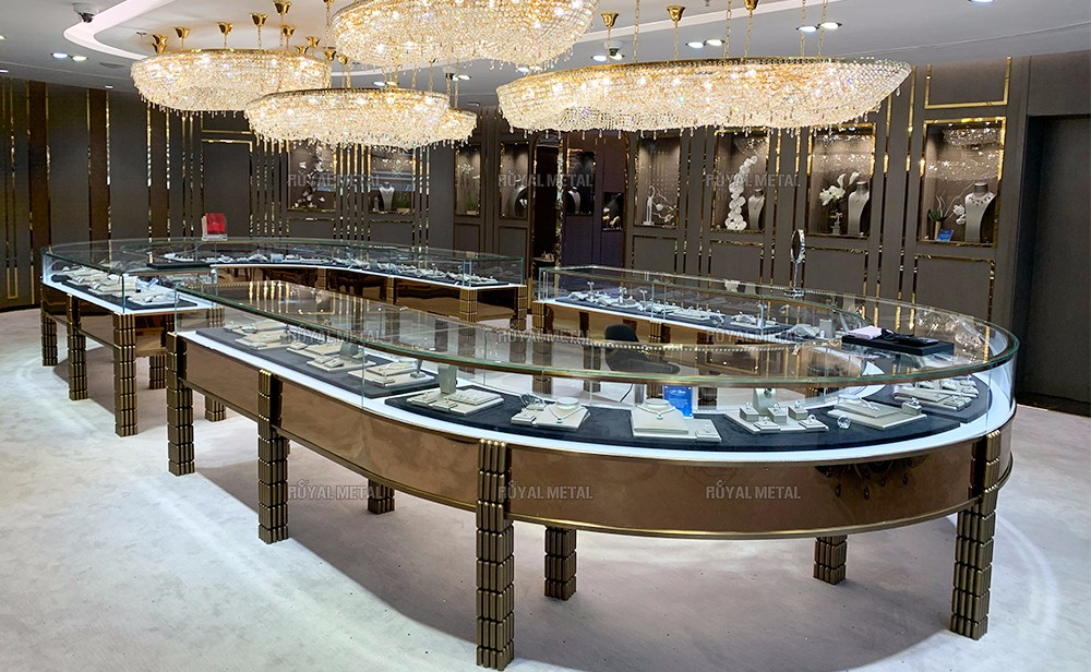 Stainless steel display rack boutique sample jewelry jewelry cabinet