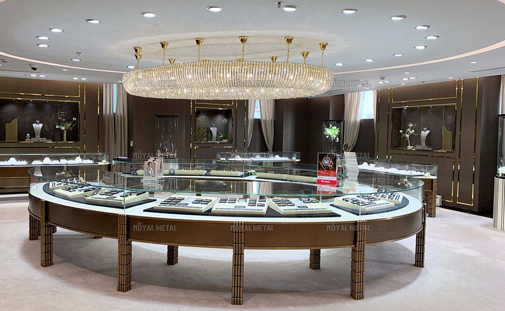 Stainless steel jewelry cabinet Customized watch boutique cabinet